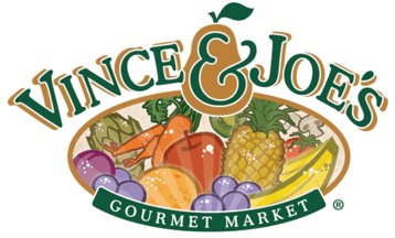 A theme logo of Vince & Joe's Gourmet Markets